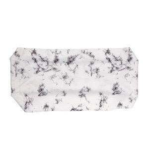 Black and white tie dye athletic headband
